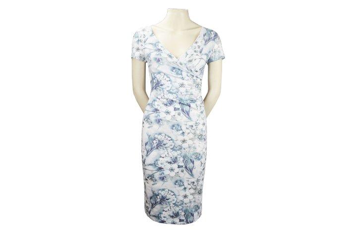 Hvid kjole med blomsterprint