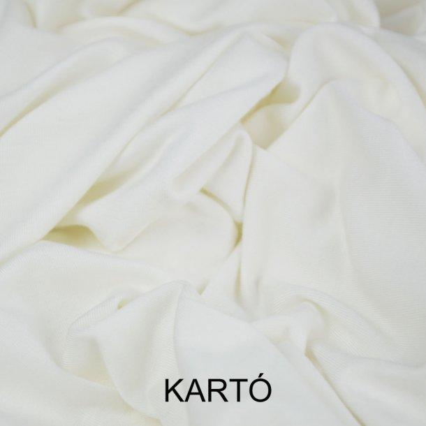 Bambus jersey - knækket hvid