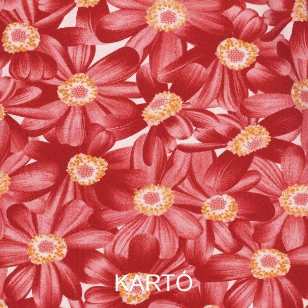 Blomstret bomulds jersey - Rød
