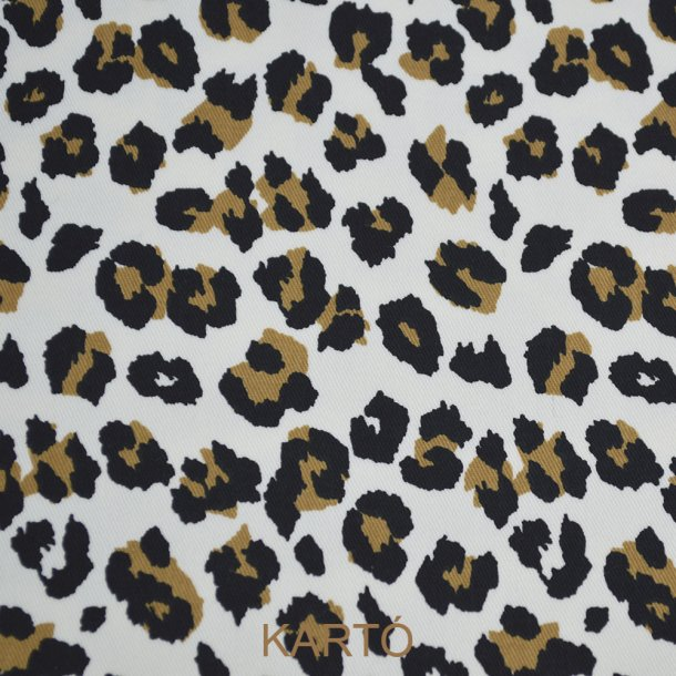 Bomulds twill med leopard print