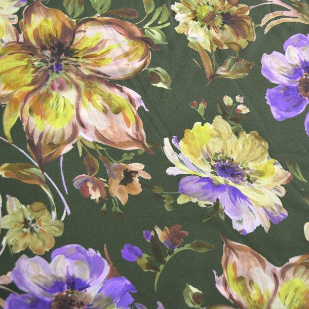 Fastvævet viscose - Store blomster