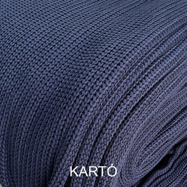 Grov bomulds strik - Marineblå