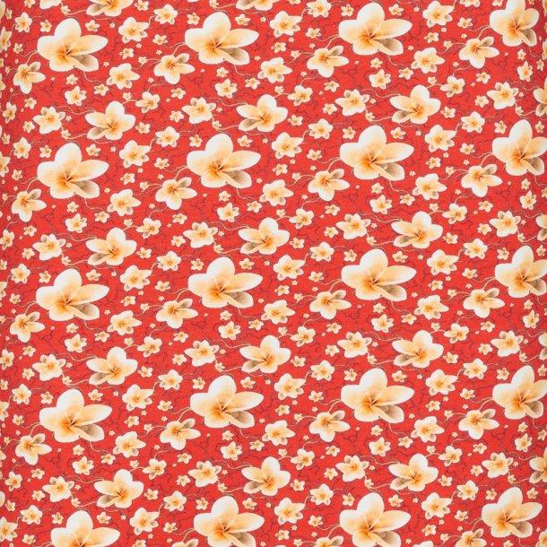 Blomstret bomulds jersey- Rød