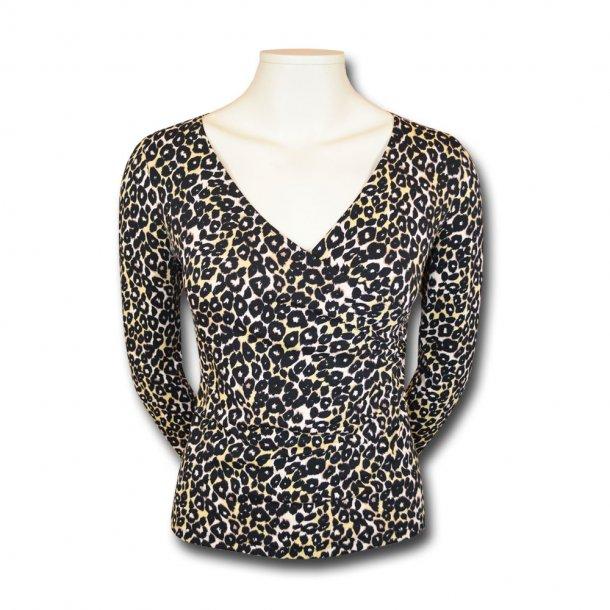 Bluse med leopard print